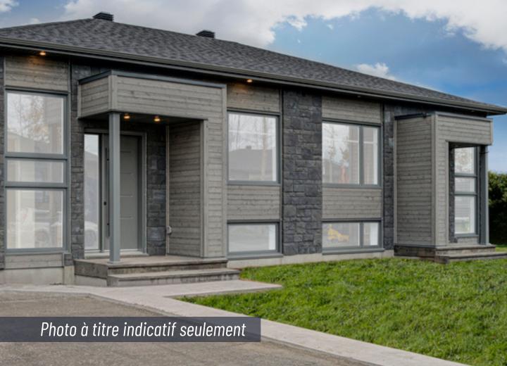 Maison neuve jumelé neuf à vendre au 55, rue Honoré à Victoriaville